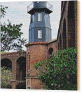 Fort Jefferson Light House Wood Print