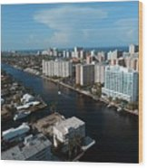 Fort Lauderdale Aerial Photography Wood Print