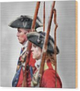 Fort Ligonier Soldiers Wood Print