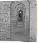 Fort Macon Going Home Wood Print