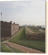 Fort Mchenry Earthworks And Barracks In Baltimore Maryland Wood Print
