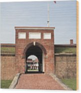 Fort Mchenry Gate In Baltimore Maryland Wood Print