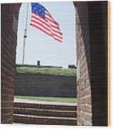 Fort Mchenry Star Spangled Banner Wood Print