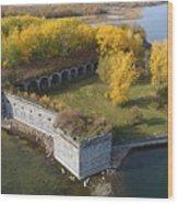 Fort Montgomery Fall Wood Print