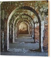 Fort Morgan Arches Wood Print