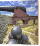Fort Moultrie Cannon Balls Wood Print