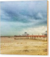 Fort Myers Pier Wood Print