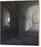 Fort Pickens Corridor 2 Wood Print