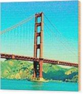 Fort Point Golden Gate Bridge Wood Print