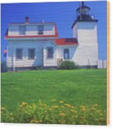 Fort Point Lighthouse Stockton Springs Wood Print