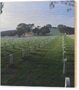 Fort Rosecrans National Cemetery Wood Print