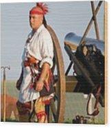 Fort Stanwix Warrior Wood Print