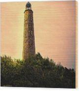 Fort Story Lighthouse Virginia Wood Print