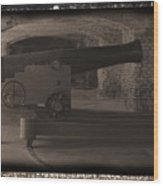 Fort Sumpter Cannon Wood Print