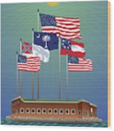 Fort Sumter, Charleston, Sc Wood Print