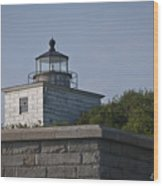 Fort Taber Lighthouse Wood Print
