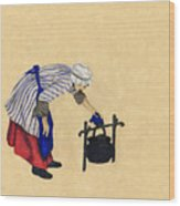 Fort Toulouse Cooking Woman Wood Print