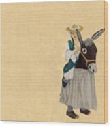 Fort Toulouse Woman In Donkey Costume Wood Print