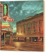 Fort Worth Impressions Main And Exchange Wood Print