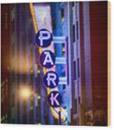 Fort Worth Park Sq Wood Print