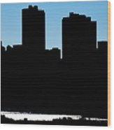 Fort Worth Silhouette Wood Print