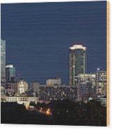 Fort Worth Skyline 051918 Wood Print