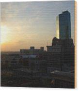 Fort Worth Sunset Wood Print
