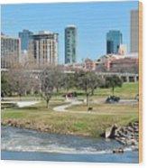 Fort Worth Trinity Park Wood Print