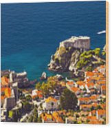 Fortress Of Dubrovnik From Above Wood Print
