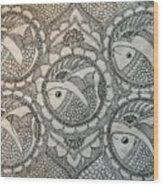 Fortune Fish Wood Print