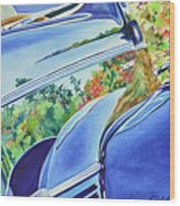 Forty Ford In Fall Wood Print