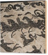 Baths Of Neptune Wood Print