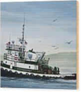 Foss Tugboat Martha Foss Wood Print by James Williamson