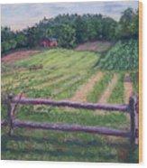 Fosterfields Farm Wood Print