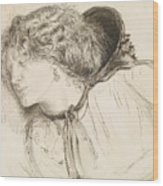 Found - Study For The Head Of The Girl Wood Print