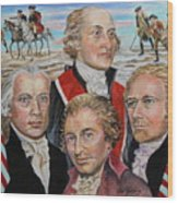 Founding Fathers Jay Madison Paine And Hamilton Wood Print