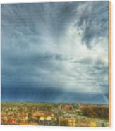 Founds Clouds Wood Print