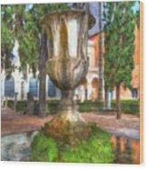 Fountain At National Roman Museum Wood Print