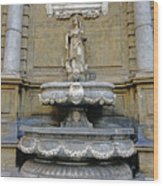 Fountain At Quattro Canti In Palermo Sicily Wood Print