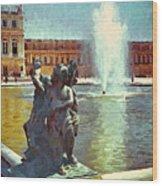 Fountain At Versailles Wood Print
