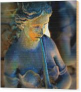 Fountain Girl Wood Print