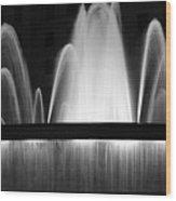 Fountain In Barcelona Wood Print