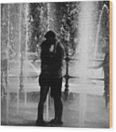 Fountain Love Wood Print