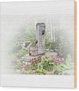 Fountain Of Flowers elsah Illinois Wood Print
