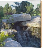 Fountain Out Of Rocks Wood Print