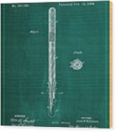 Fountain Pen Patent Drawing 1a Wood Print