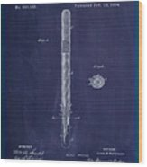 Fountain Pen Patent Drawing 1e Wood Print