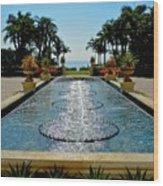 Fountain Pool Wood Print