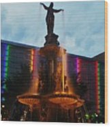 Fountain Square Wood Print
