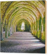 Fountains Abbey, Vaulted Chamber Wood Print